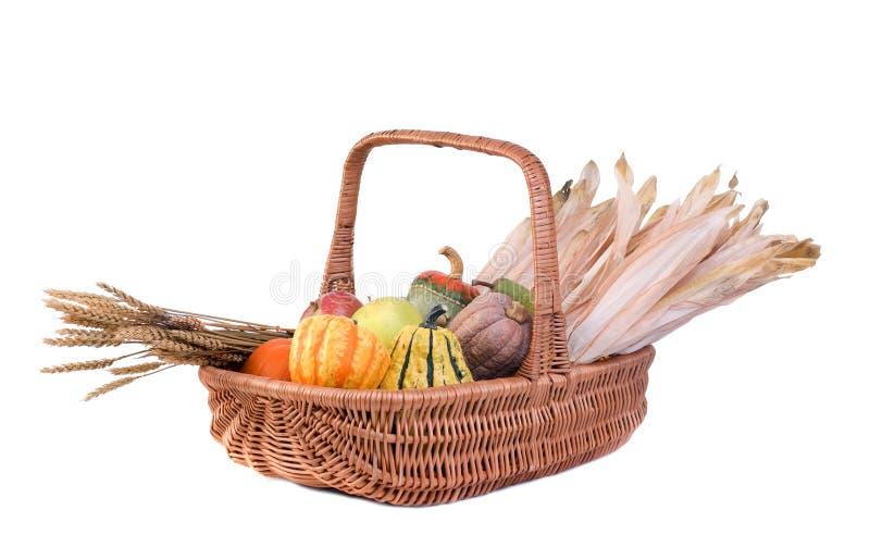 Panier d'automne photographie stock