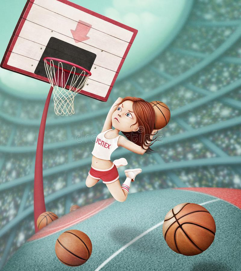Panier de basket-ball illustration stock