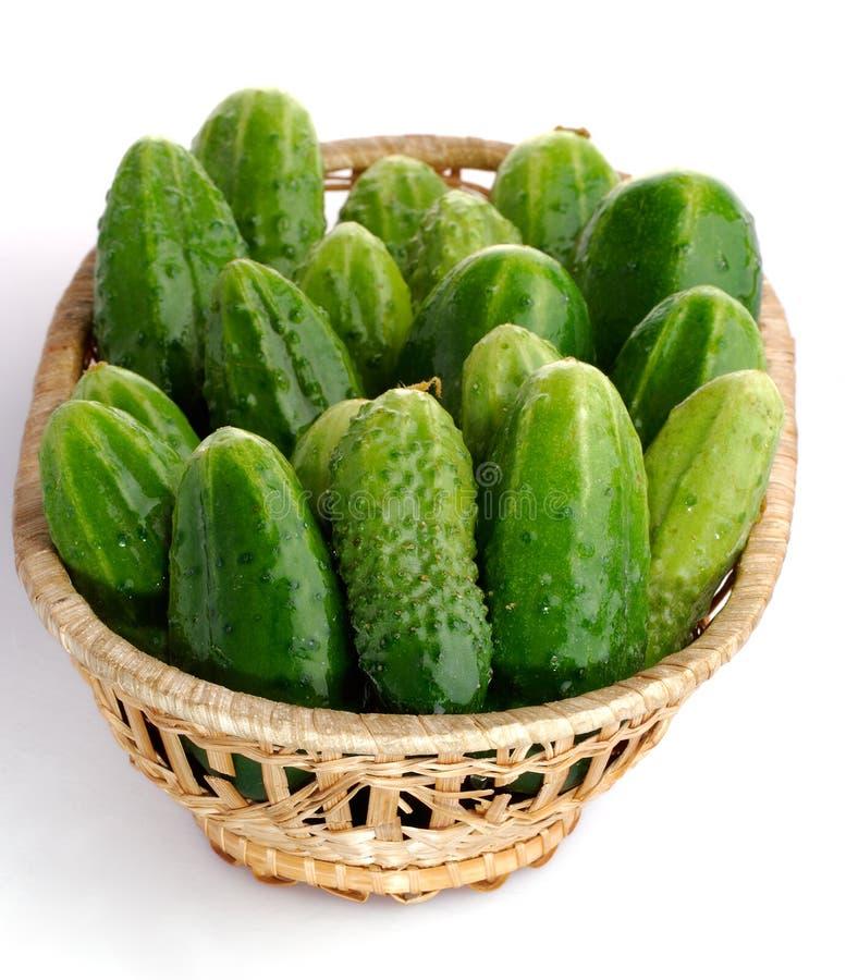 Panier de concombre photo stock