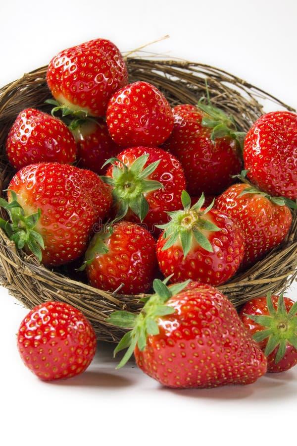Panier de fraise photos stock