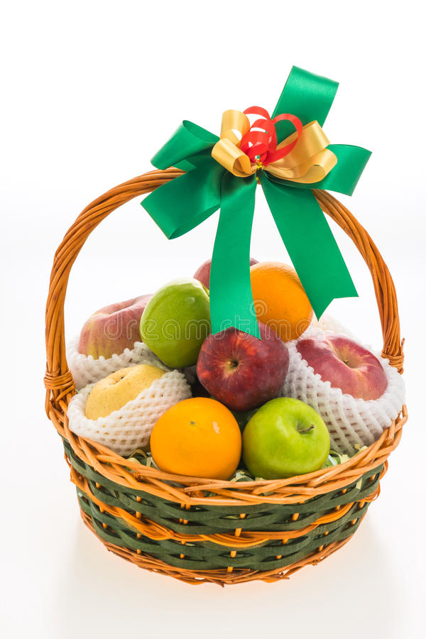 Download Panier de fruits photo stock. Image du nourriture, jaune - 87705656