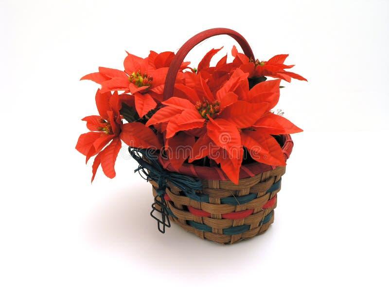 Download Panier de Noël photo stock. Image du fleur, soie, vacances - 53190