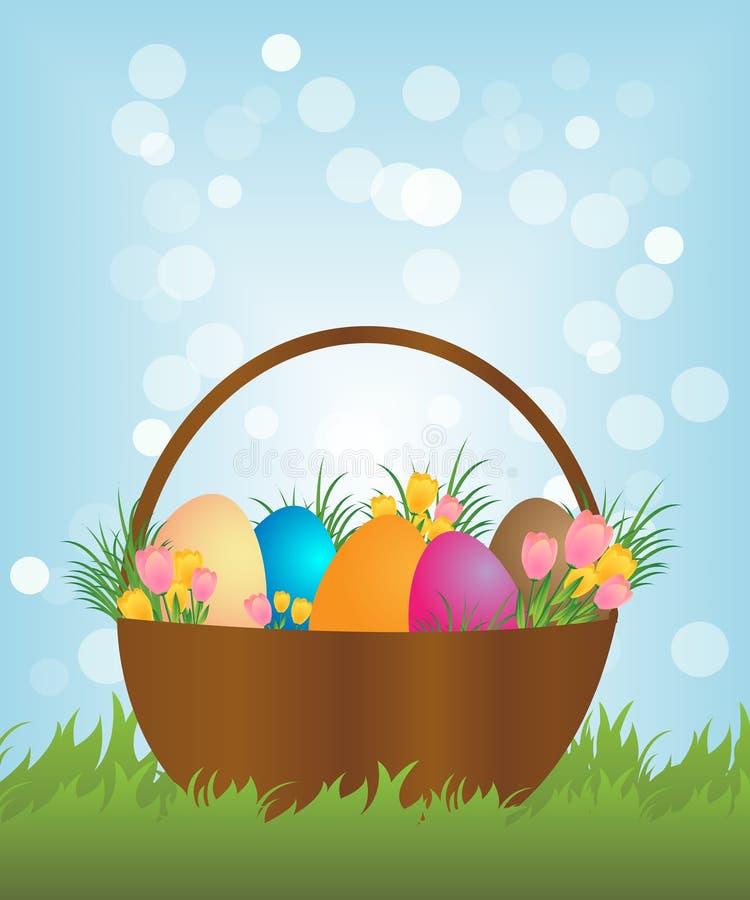 Panier de Pâques illustration stock