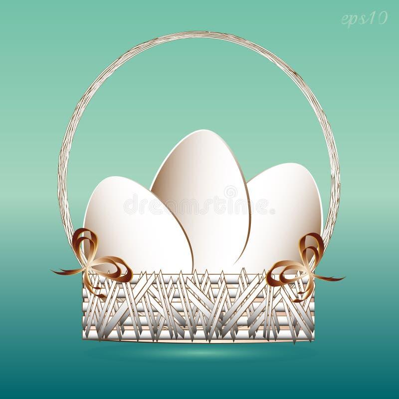 Panier de Pâques avec des oeufs illustration libre de droits