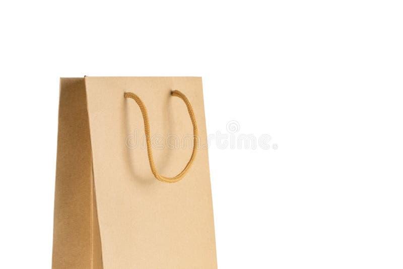 Panier de papier de métier d'isolement sur le fond blanc photo stock