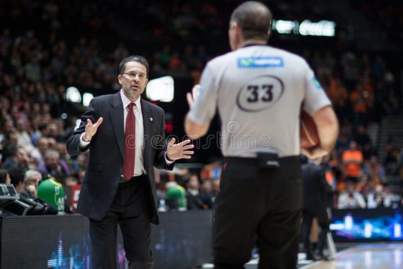 Panier de Valencia Basket et de Bilbao photo libre de droits