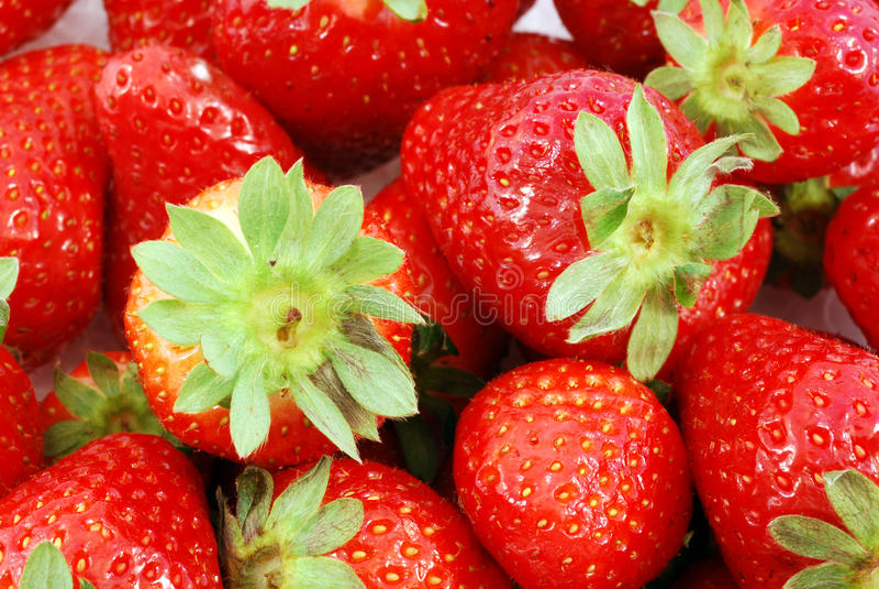 Panier des fraises photos stock