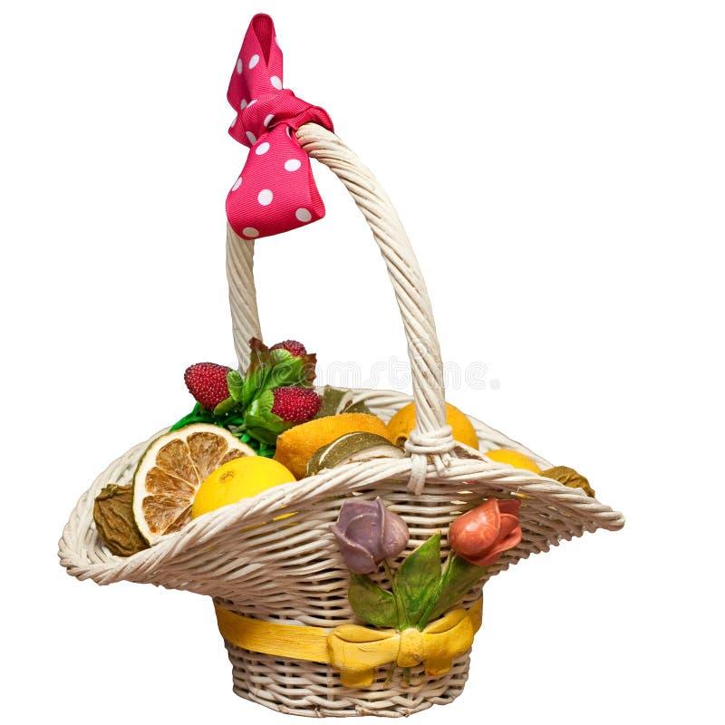 Panier des fruits secs photo stock