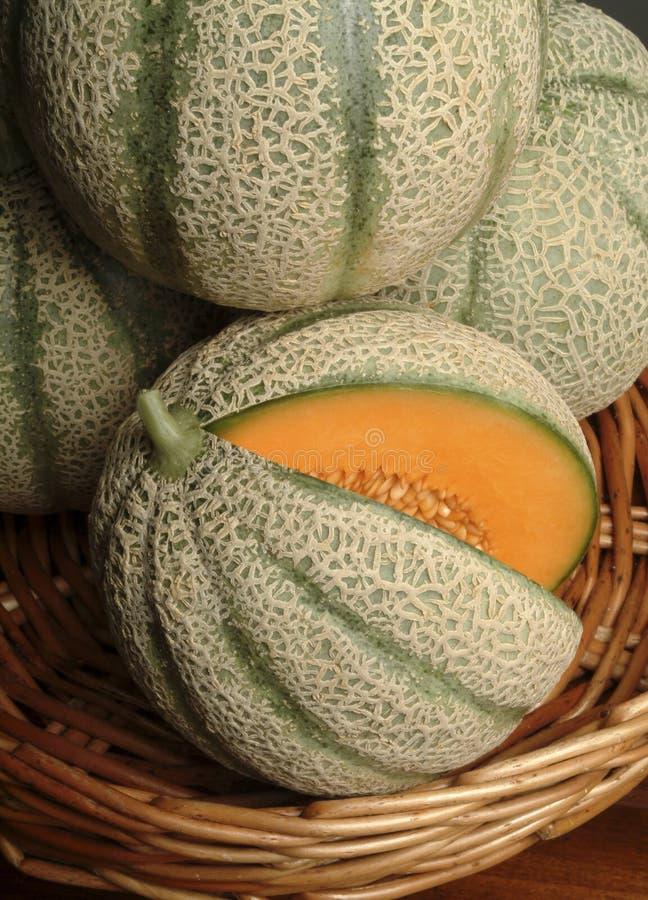 Panier des melons images libres de droits