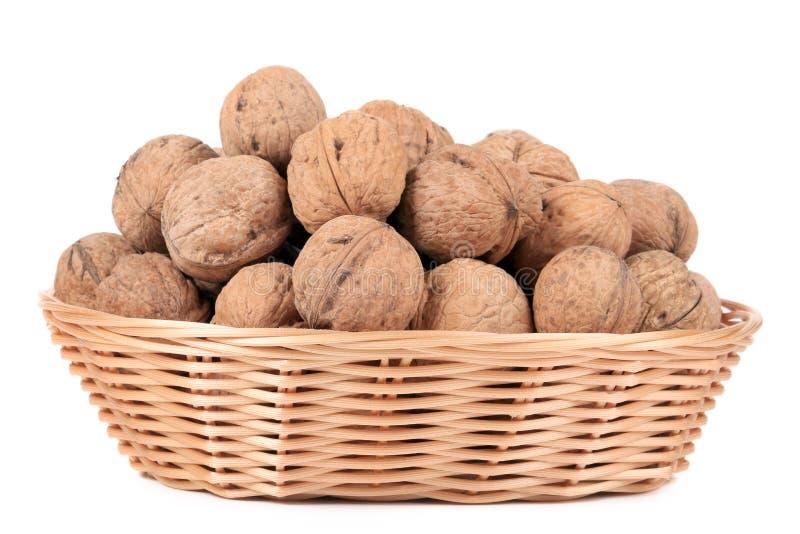 Panier des noix. photographie stock libre de droits