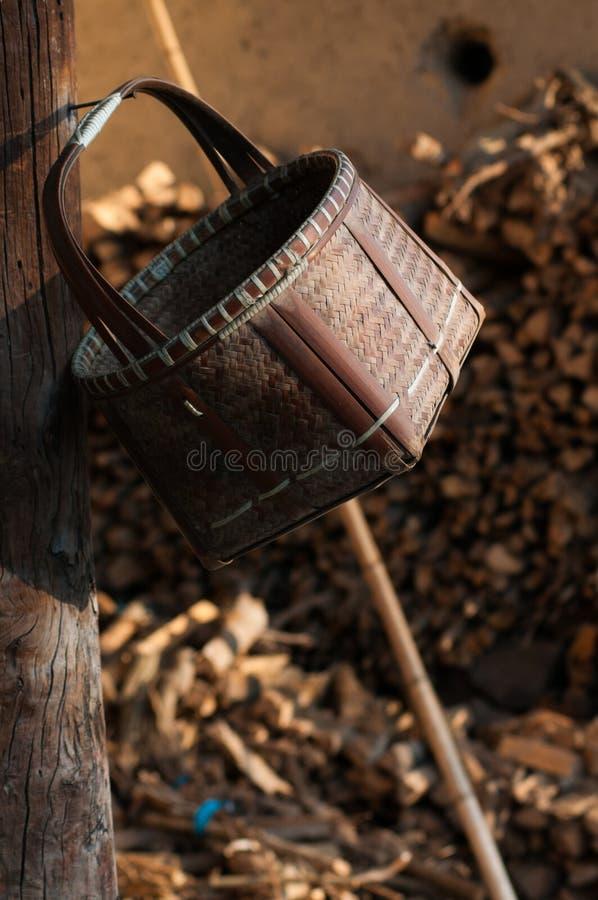 Panier en bambou photos stock