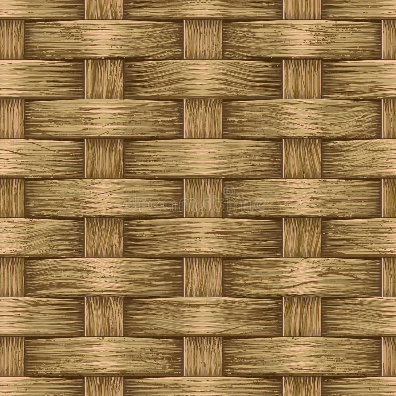 Panier en bois de cru illustration libre de droits