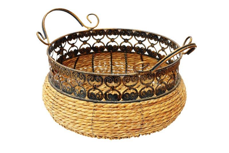 Panier en osier pour le pain ou des fruits image stock - Panier decoratif osier ...