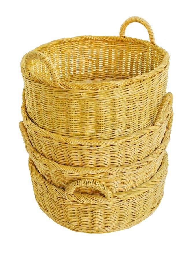 Panier en osier vide photo stock image du fibre culture - Panier decoratif osier ...