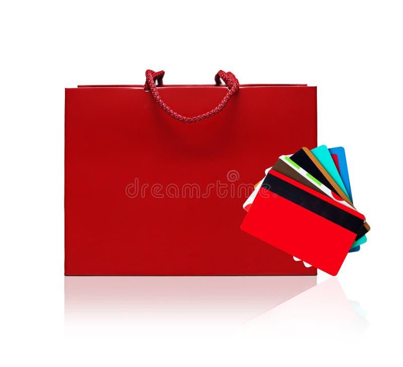 Panier rouge image stock