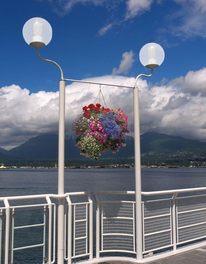 Panier s'arrêtant coloré de fleur image libre de droits