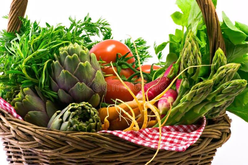 Panier végétal image stock