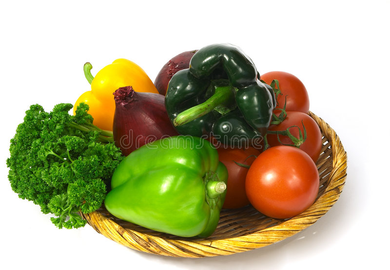 Panier végétal 2 image libre de droits