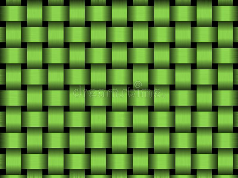 Panier vert illustration stock