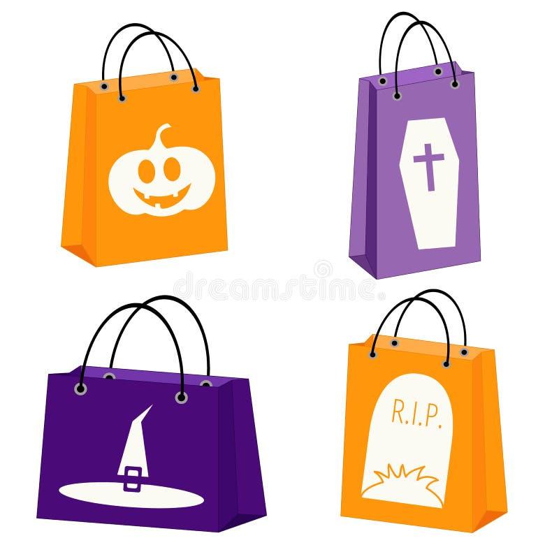 Panieres de Halloween stock de ilustración
