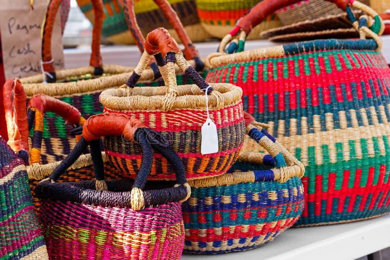 Paniers d'Afrique occidentale photo stock