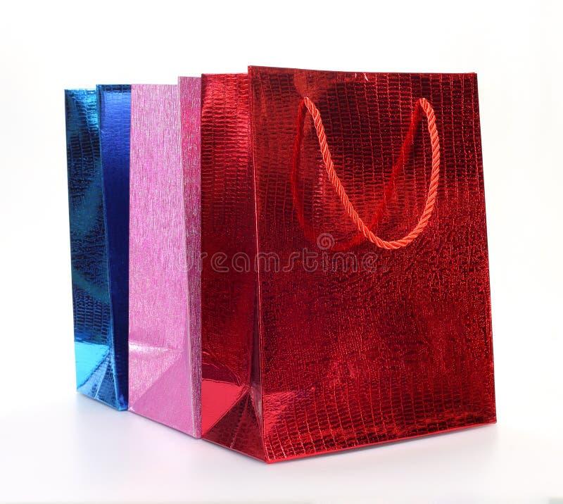 Paniers de papier colorés image stock