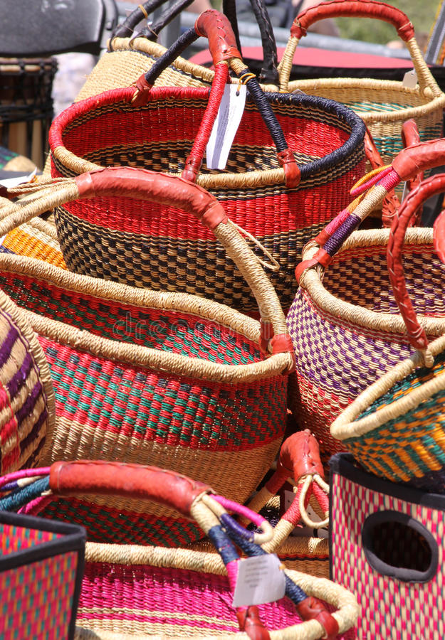 Paniers fabriqués à la main photo stock