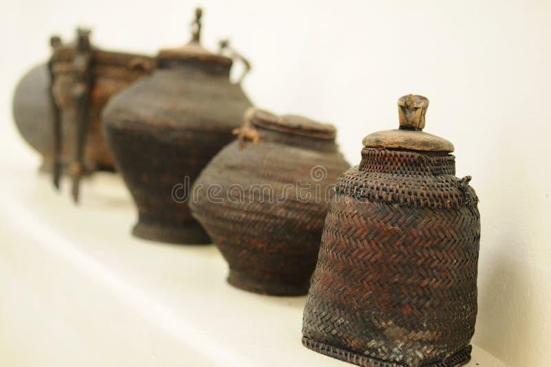 Paniers philippins antiques image libre de droits