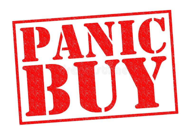 PANIK-KAUF stock abbildung