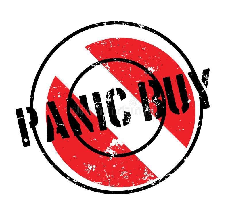 Panik-Kaufstempel stock abbildung