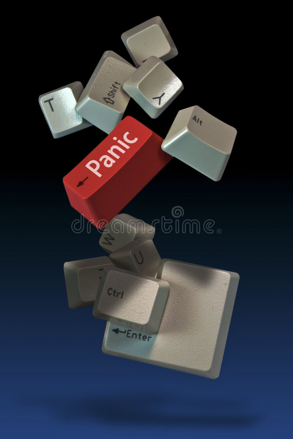panika kluczy komputerowych zdjęcia stock