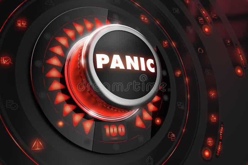 Panika kontroler z Rozjarzonymi czerwonymi światłami royalty ilustracja
