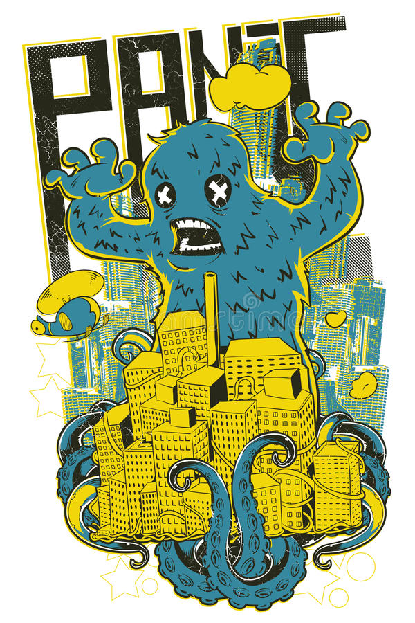 Panika potwór ilustracja wektor