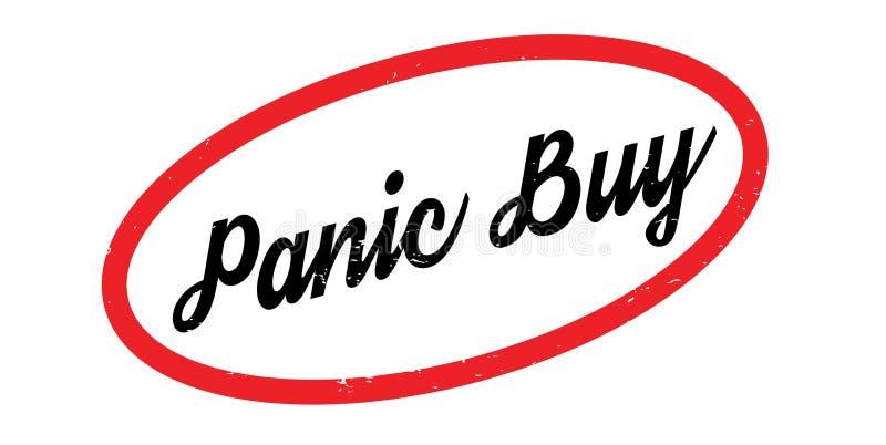 Panika zakupu pieczątka ilustracja wektor