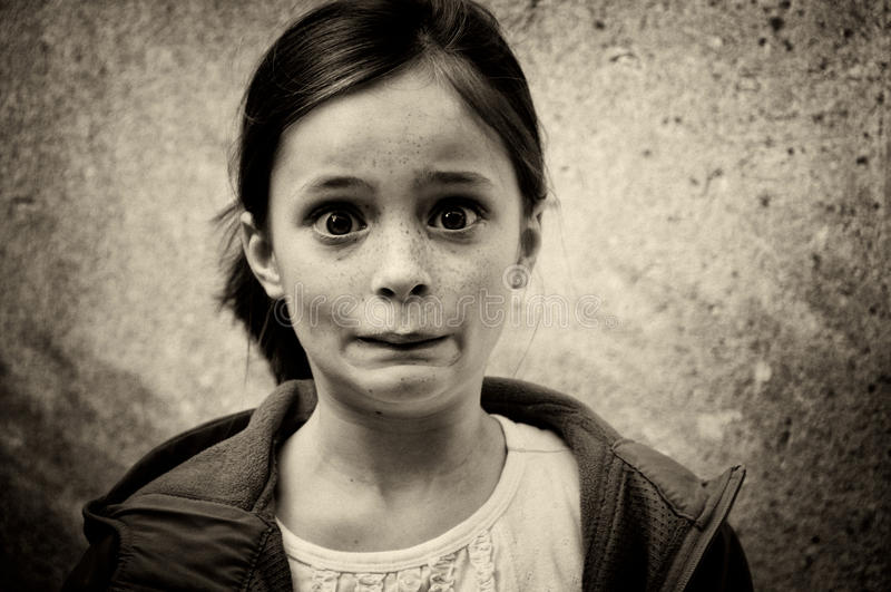 Paniki dziewczyna zdjęcia stock