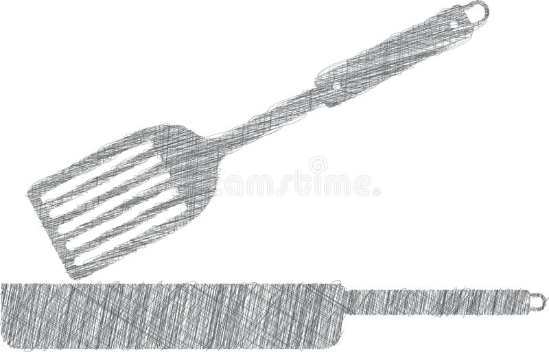 Panillustratie, keukengerei vector illustratie