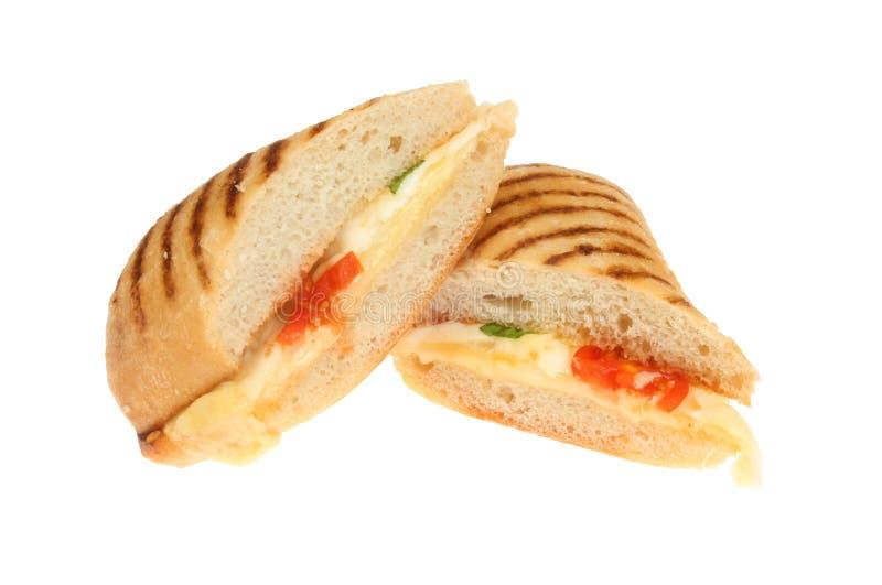 Panini τυριών και ντοματών στοκ εικόνες με δικαίωμα ελεύθερης χρήσης