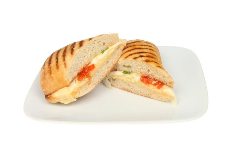Panini сыра и томата стоковое изображение
