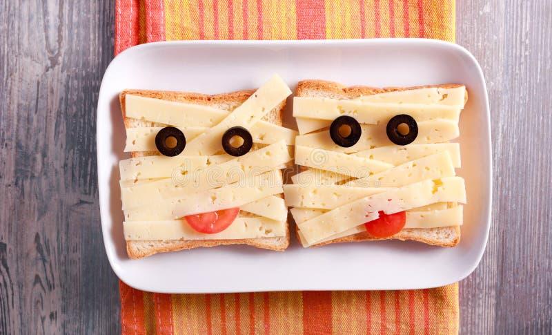 Panini della mummia del pane e del formaggio immagine stock libera da diritti
