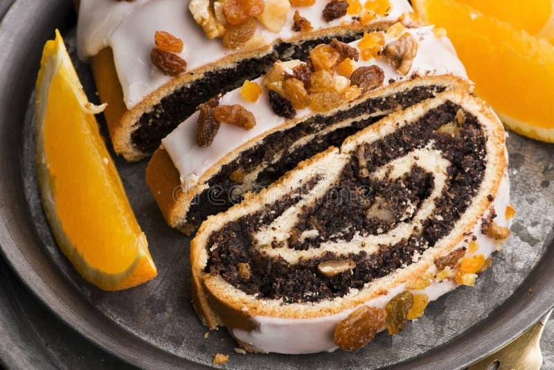 Panini di papavero, dessert per Natale fotografie stock libere da diritti