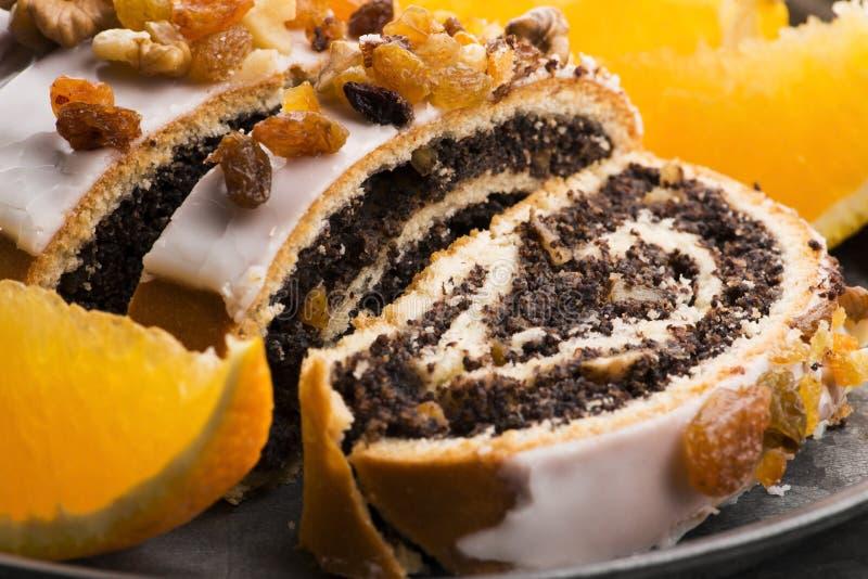 Panini di papavero, dessert per Natale immagini stock libere da diritti