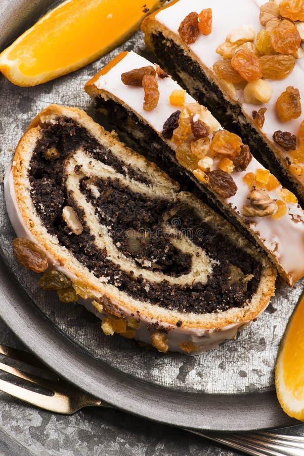 Panini di papavero, dessert per Natale fotografia stock libera da diritti