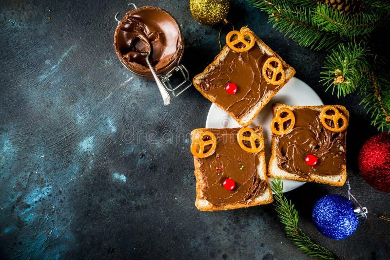 Panini divertenti di Natale immagine stock libera da diritti