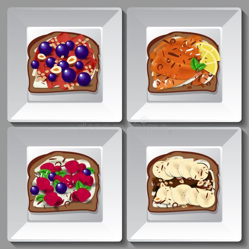Panini dolci con le bacche e la frutta royalty illustrazione gratis