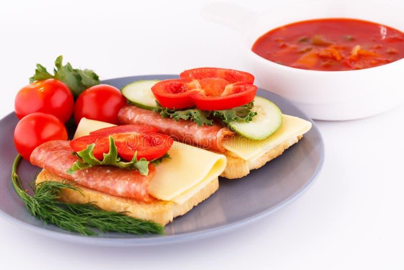 Panini e salsa fotografia stock libera da diritti