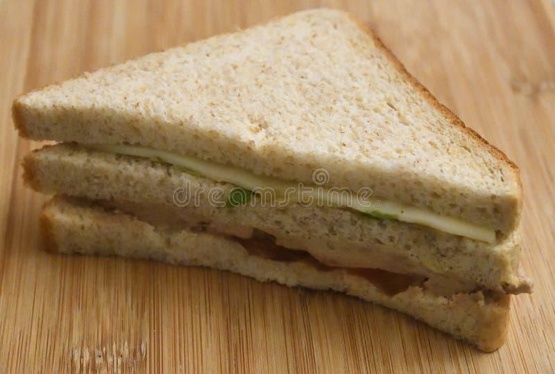 panini Panino di panini del formaggio e del prosciutto immagine stock