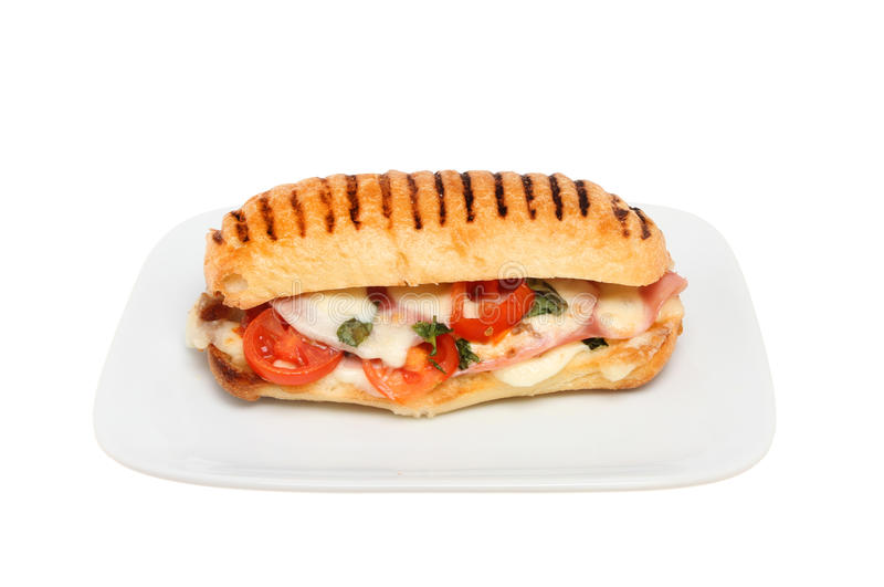 Panini on a plate stock images