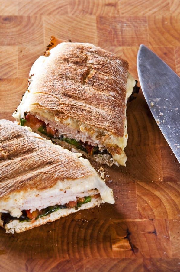 Panini sandwich royalty free stock photography