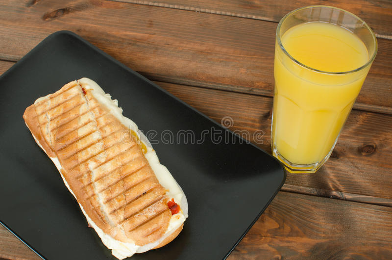 Panini sandwiches italien royalty free stock photos