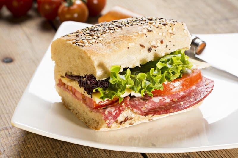 Panini smörgås arkivbild